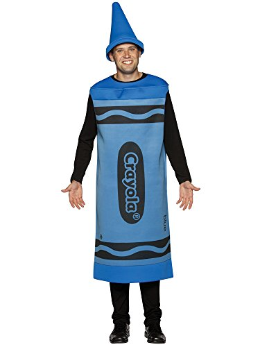 Blue Crayola Crayon Costume - Large/XL - Chest Size 42-48 - Crayola Crayon Costume Hat