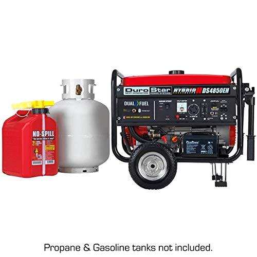 DuroStar DS4850EH Hybrid Dual Fuel Gas or Propane 4,850-Watt Portable Generator