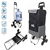 Step Up Foldable Grocery Shopping Cart Dolly – Stair Climber Utility Trolley Tote