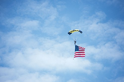 Home Comforts A Leap Frog The U.S. Navy Parachute Team descends into The commissioning Ceremony The Arleig