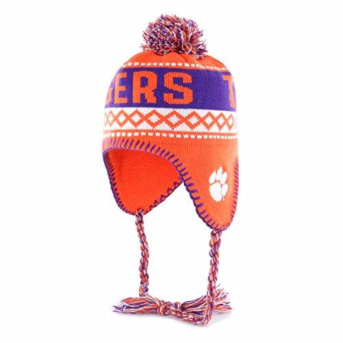 NCAA Clemson Tigers Adult NCAA Abenaki Ots Sherpa Knit Cap with Pom, One Size, Orange