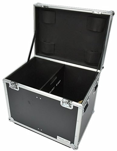 Utility Trunk 29.9x21.56x24.02. Engineered To Hold Tools/Lighting Or Others With Caster Board Recessed Handle And Tough Pro Gauge Ball Corners One Black Interior Divider DEEJAY LED TBHTUT2230W