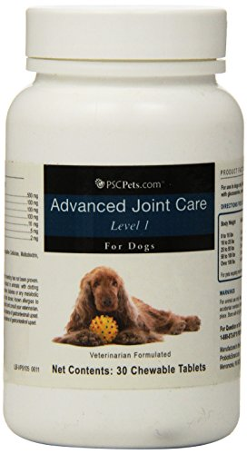 PSCPets Advanced Joint Care Level 1 Chewable Tablets for Dogs, 30 Tablets