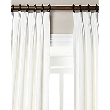 Amazon Com 100 Linen Pinch Pleated Lined Window Curtain