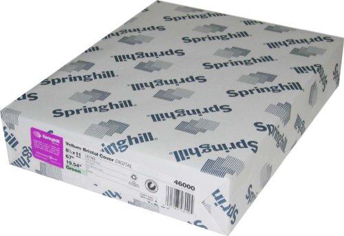 Springhill Vellum Bristol Blue 67# Cover 8.5''x11'' 250 sheets