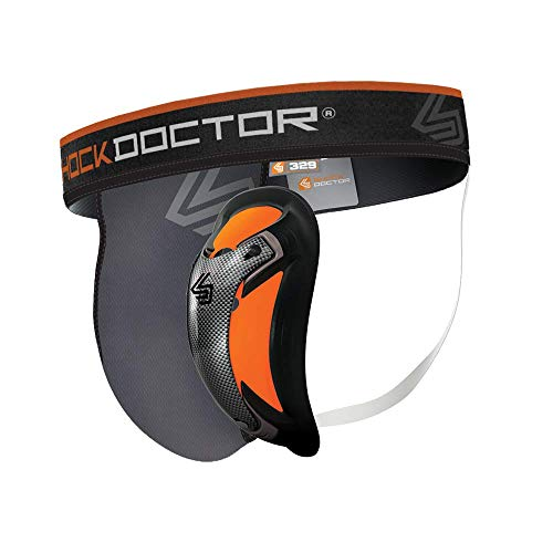 Shock Doctor Men's Ultra Pro Supporter with Ultra Cup, Grey, Medium
