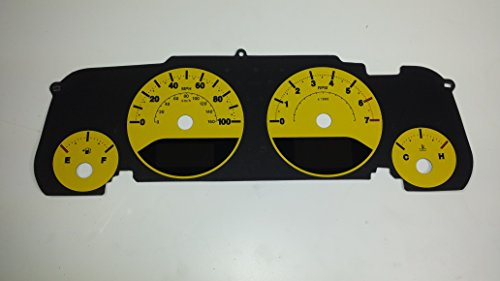 US Speedo WRA080-4 Daytona Edition Gauge Faces Jeep Wrangler JK 2007-2010