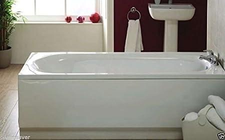 Bathroom White Acrylic 1700mm x 510mm Standard Bath Tub Front Side ...