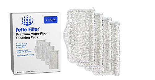 4-Pack - Washable Microfiber Mop Pads Cleaning Pads Replacement for Shark Steam and Spray Mop S3101, S3102, S3250, S3251, SK115, SK140, SK141, SK410, SK435CO, SK460