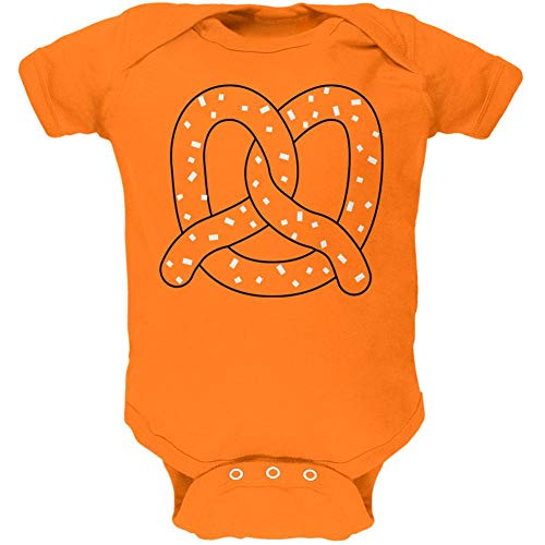 Old Glory Halloween Pretzel Food Costume Soft Baby One Piece Mandarin Orange 3-6 -