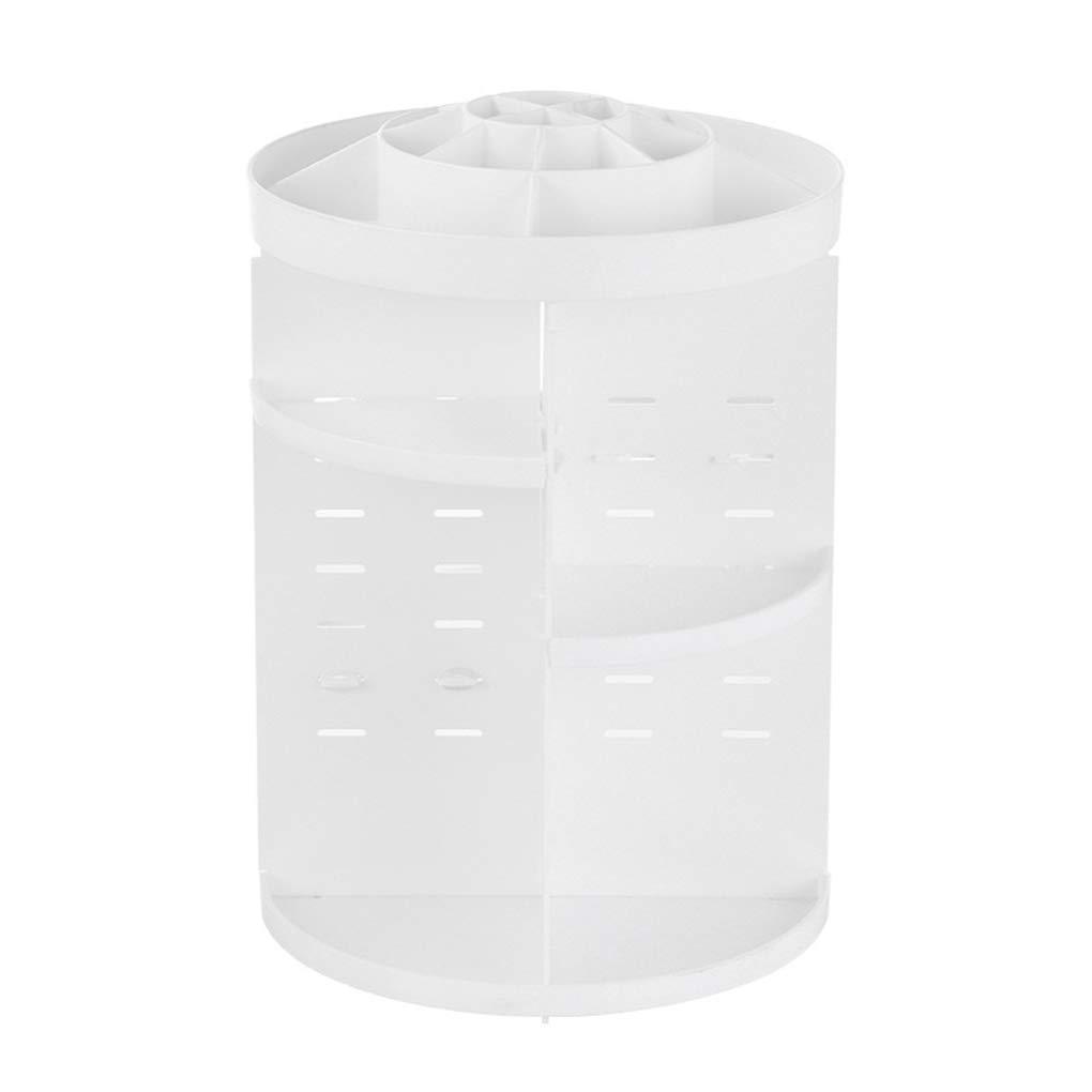 Belleza 360 Grados Rotación Maquillaje Organizador Multifunción Joyería Cosmética Lápiz Labial Pinceles Maquillaje Titular Caja De Almacenamiento De Plástico Caja Mengonee