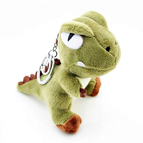 Smilesky Plush Dinosaur Keychain Stuffed Animals Toys Backpack Ornaments Pendant Key Ring Green 4