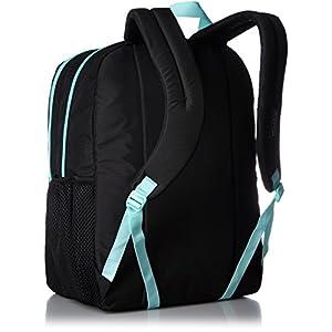 "JanSport Classic Mainstream Big Student Overexposed Backpack - Black/Aqua Dash / 17.5""H X 13""W X 10""D"