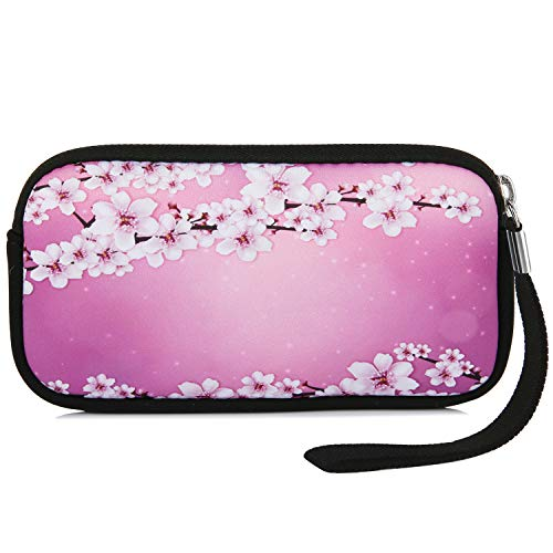 Violet Mist Neoprene Coin Purse Cosmetic Bag Women's Wallets,Cherry blossoms 2 (Blossom Cherry Wallet)