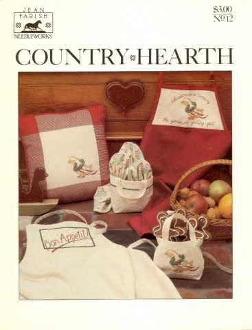 Country Hearth Cross Stitch Patterns by Jean Parish Needleworks