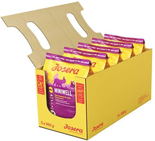 JOSERA Miniwell (5 x 900 g) | Hundefutter für kleine Rassen | extra verträgliche Rezeptur mit Geflügel | Super Premium…
