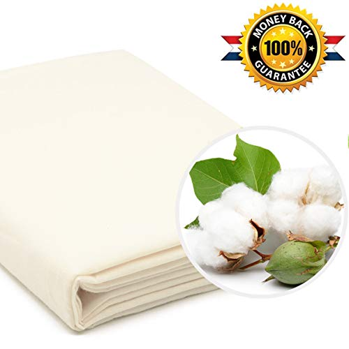 35 Square Ft Cotton Cheesecloth for Cheese Making Straining Cooking Coffee&Milk Bags Crafts (Unbleached Grade 90)