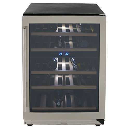 magnavox-wcf43s3sd-24-dual-zone-designer-series-wine-chiller-with-seamless-door-and-43-bottle-storag