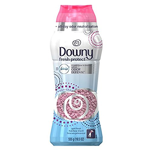 Downy Fresh Protect with with Febreze, In-Wash Scent Beads, April Fresh, 19.5 oz (2)