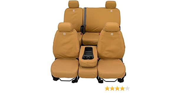 Covercraft Carhartt SeatSaver Front Row Custom Fit Seat Cover for Select Ram Models SSC3457CABN Brown Duck Weave
