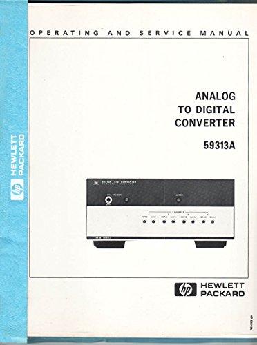 HP Operating and Service Manual, Analog to Digital Converter 59313A, Serials Prefixed 1608A, Part No. ()