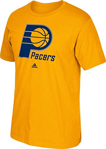 NBA Indiana Pacers Men's Full Primary Logo Tee, Small, Gold