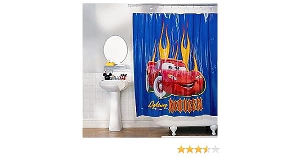 Amazon Disney Lightning McQueen Shower Curtain Home Kitchen