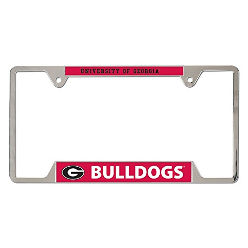 NCAA University of Georgia Metal License Plate Frame