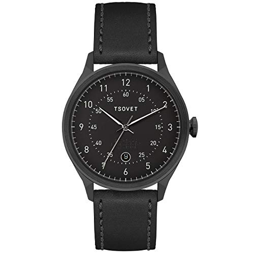 Tsovet Men's SVT-RM40 40MM Watch, Black/Black, One Siz