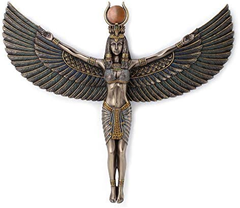 Veronese Design Egyptian Goddess Isis Spreading Wings Wall Plaque 11.8″ Tall