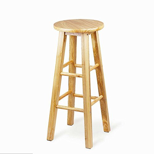 Wood color bar chairs / bar stool high stool / coffee shop bar chairs ( Size : 60CM ) by Xin-stool