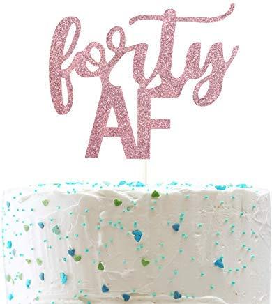JeremyHar75 Forty AF - Decoración para Tarta (40 cumpleaños ...