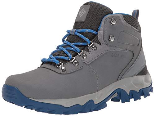 Columbia Men's Newton Ridge Plus II Waterproof Hiking Shoe, ti Grey Steel, Blue Jay, 9.5 Regular US