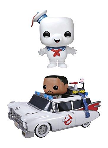 "Funko Ghostbusters POP! Movies Vinyl Collectors Set: 6"" Stay Puft Man, Ecto 1 & Zeddemore Action Figure"