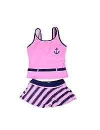 Girls Kids Two-piece Swimsuit Swimwear Swimdress Swim Suit