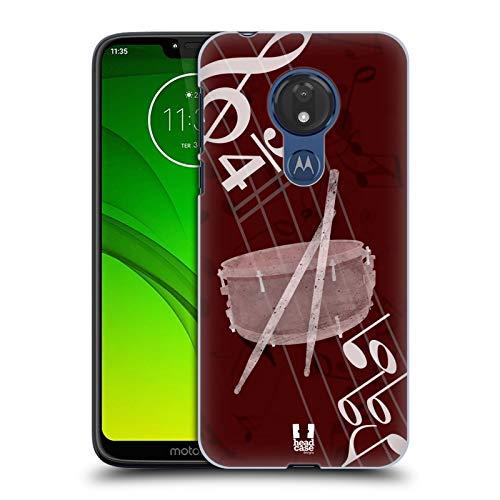 Head Case Designs Snare Musika Hard Back Case for Motorola Moto G7 Power