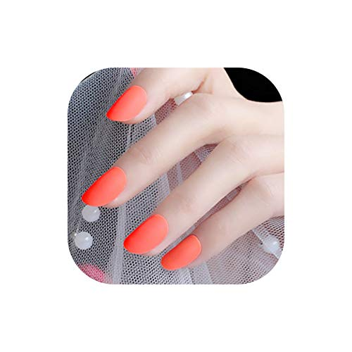 24Pcs Grey Gradient False Nails Press-on Manicure With Dual-layer Adhesive Clear Short Fake Nails Tips,M26-568