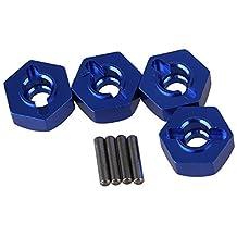 Mxfans 4pcs Aluminum Alloy 12x5mm Mount Wheel Hex Hub CC01-005 for TAMIYA CC01 4WD RC 1/10 Dark Blue