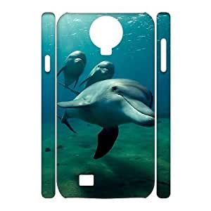 Custom New Case for SamSung Galaxy S4 I9500 3D, Dolphins Phone Case - HL-R680770