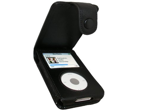 - igadgitz Black Genuine Leather Case Cover for Apple iPod Classic 80gb, 120GB & New 160gb launched Sept 09 with Belt Clip & Screen Protector