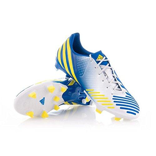 adidas Bota Predator LZ TRX FG Blanca-Azul-Amarilla  Amazon.es  Zapatos y  complementos 0083a01fbf78b
