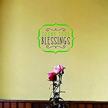 20 X 20 Design With Vinyl Moti 1955 3 Count Your Blessings Inspirational Life Quote Living Room Bedroom Peel Stick Wall Sticker Decal Wall Stickers Murals Tools Home Improvement