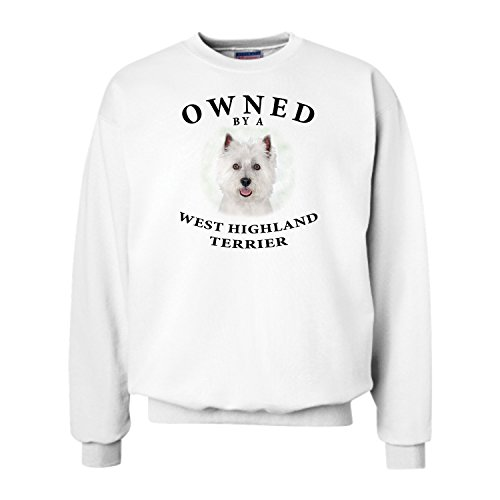 (West Highland Terrier Westie Owned By Adult Sweatshirt - LARGE)