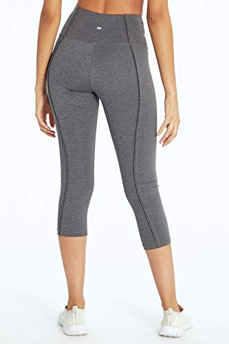 Marika Ollie High Rise Capri Legging, Heather Black, Small