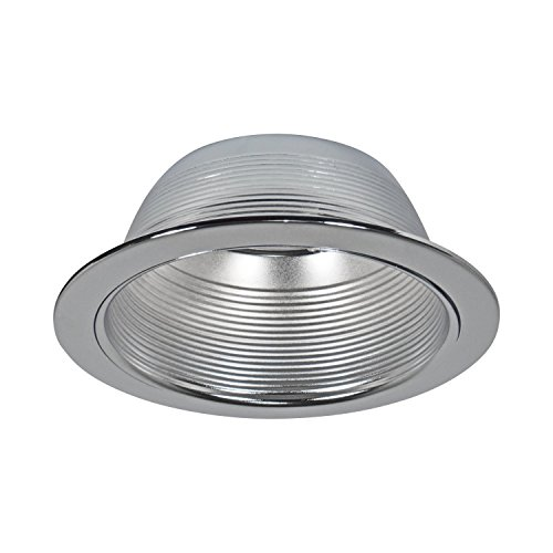 48 Pack - 6'' Inch Silver Baffle Trim with Silver Ring for 6'' Recessed Can Light - Replaces R30/PAR30/BR30 by Four Bros Lighting