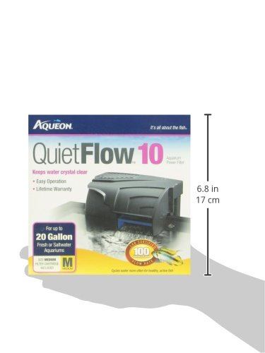 10 power aqueon quietflow filter cartridges aquarium clean for Quiet fish tank filter
