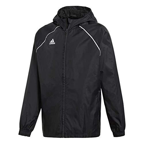 adidas Core18 Rain Jacket Youth, Black/White, Medium