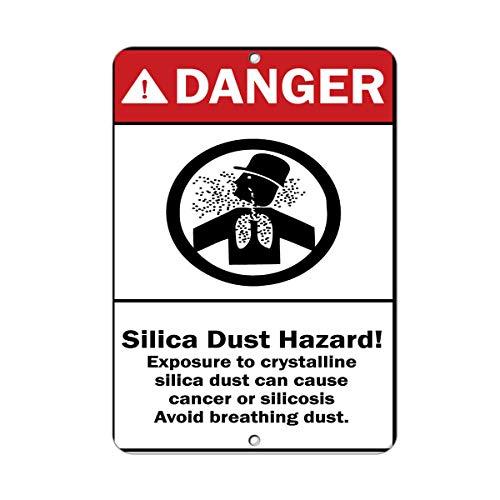 Danger Silica Dust Hazard! Cause Cancer Avoid Breathing Dust Vinyl Sticker Decal 8