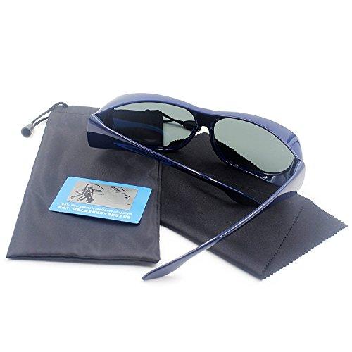 Hombre y Gafas UV400 1 polarizadas Colocar deportivas de sol Mujer blue de de las Para Sobre Gafas Normales Lectura Sol Gafas xXqT6R