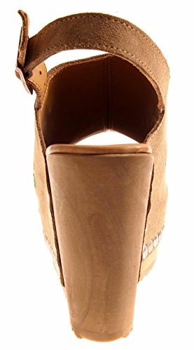 Summer Platform Shoes Wood Taupe Sandals 795 Leather Heels Wedge high Kathamag xP0nR4wpqF